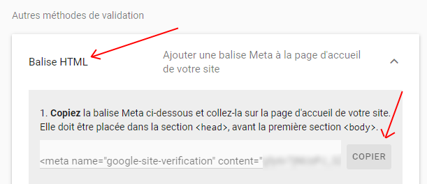 Methode Search Console Balise