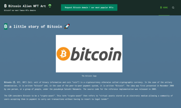 Bitcoin - AC.GD NFT domain