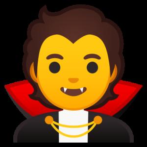 emoji vampire dracula domain